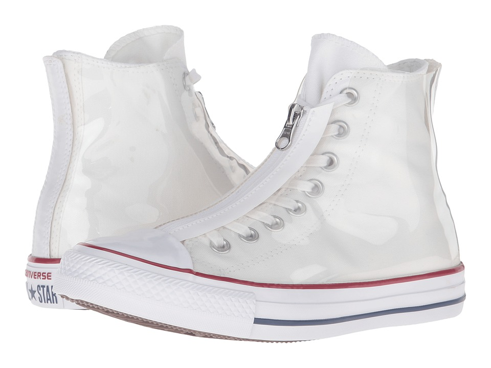 Converse - Chuck Taylor All Star Shroud Translucent Rubber Hi (White/Garnet/White) Women's Lace up casual Shoes