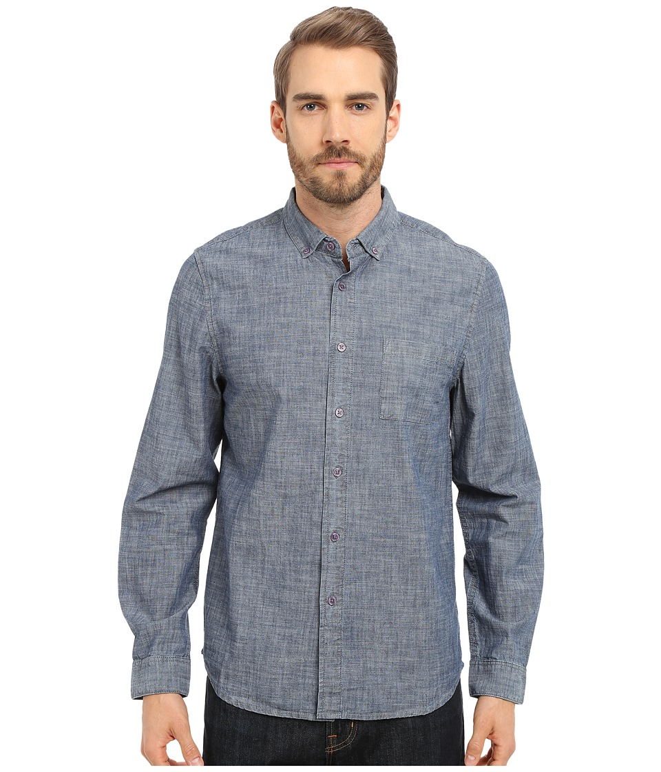 Alternative - Industry Shirt (Blue Chambray) Men's Long Sleeve Button Up