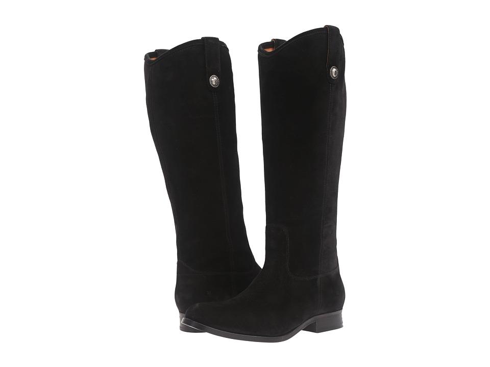 Frye - Melissa Button (Black Suede) Cowboy Boots