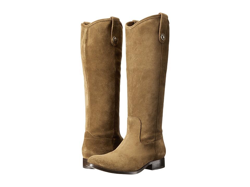 Frye - Melissa Button (Cashew Suede) Cowboy Boots