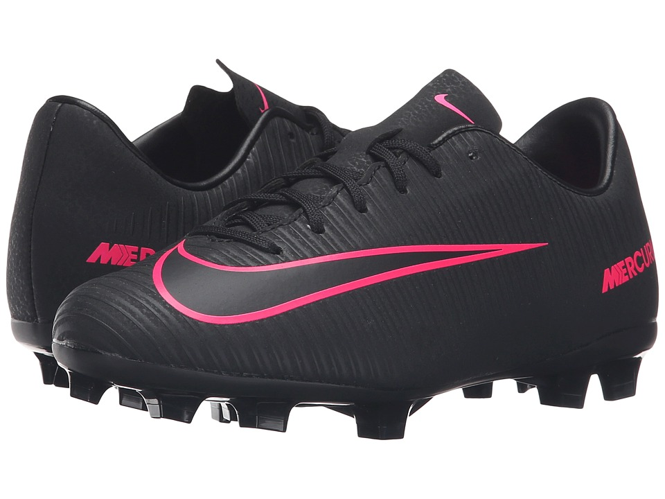 Nike Kids - JR Mercurial Vapor XI FG Soccer (Toddler/Little Kid/Big Kid) (Black/Black) Kids Shoes