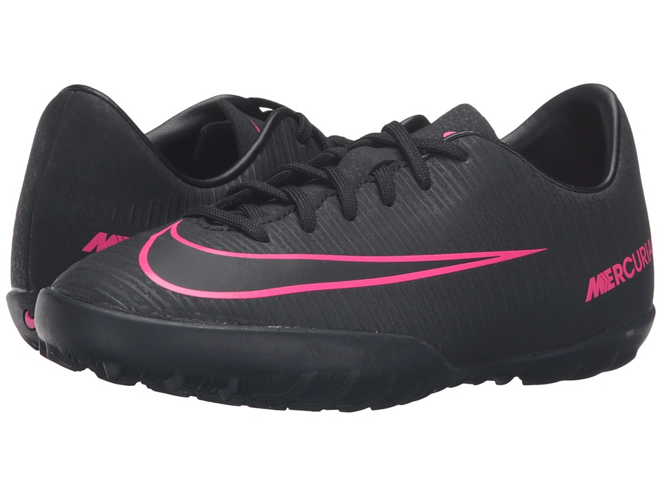 Nike Kids - JR Mercurial Vapor XI TF Soccer (Toddler/Little Kid/Big Kid) (Black/Black) Kids Shoes