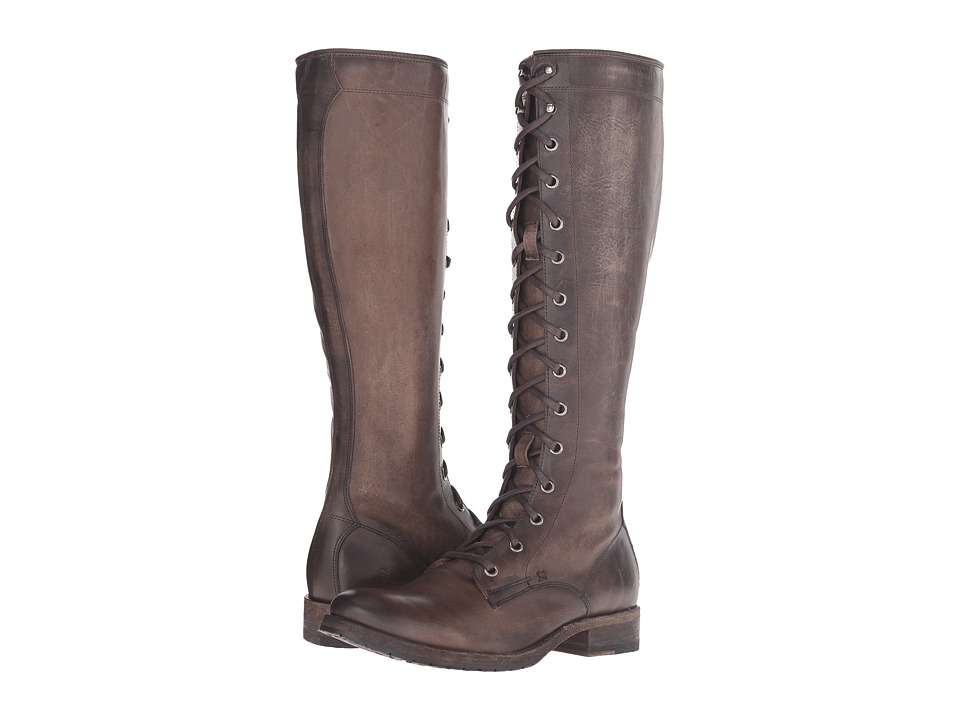 Frye - Melissa Tall Lace (Slate Washed Antique Pull Up) Women's Lace-up Boots