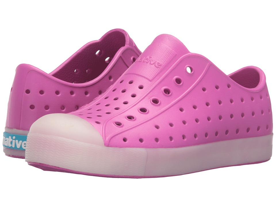 Native Kids Shoes - Jefferson Glow (Little Kid) (Samba Pink/Glow) Girl's Shoes
