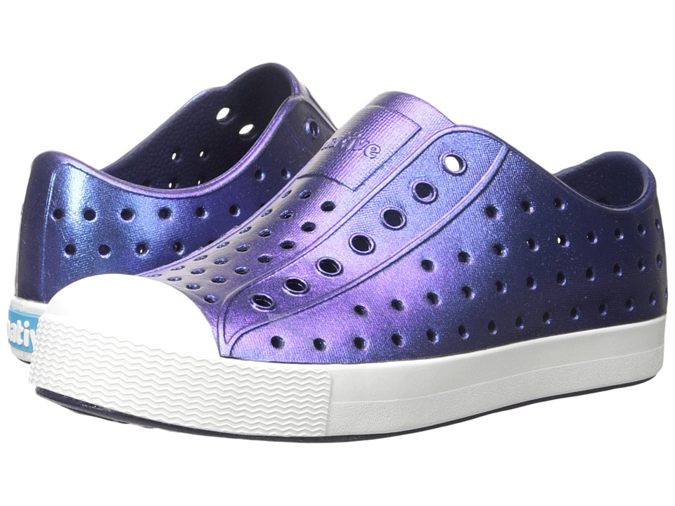 Native Kids Shoes - Jefferson Iridescent (Little Kid) (Regatta Blue/Shell White/Galaxy) Girls Shoes
