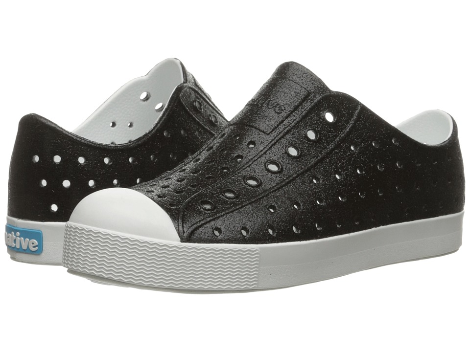 Native Kids Shoes - Jefferson Bling (Little Kid) (Black Bling/Shell White) Girls Shoes