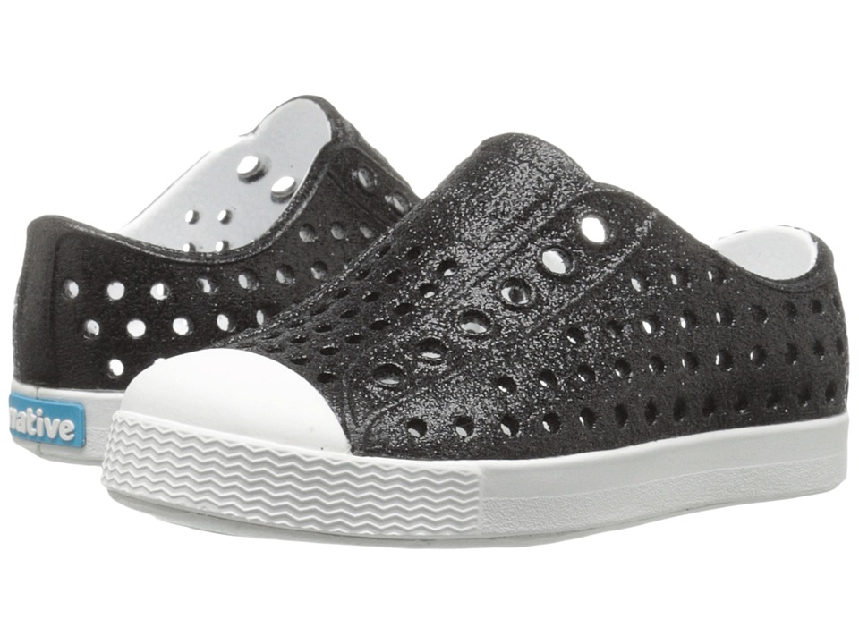 Native Kids Shoes - Jefferson Bling (Toddler/Little Kid) (Black Bling/Shell White) Girls Shoes