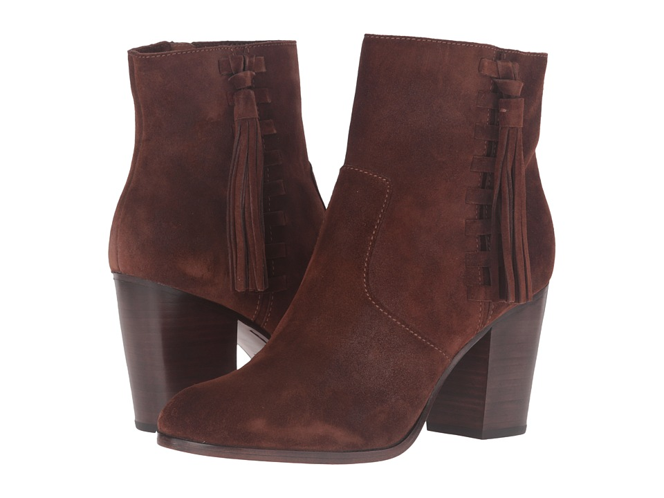 Frye - Myra Tassel Lace (Brown Oiled Suede) Women's Boots