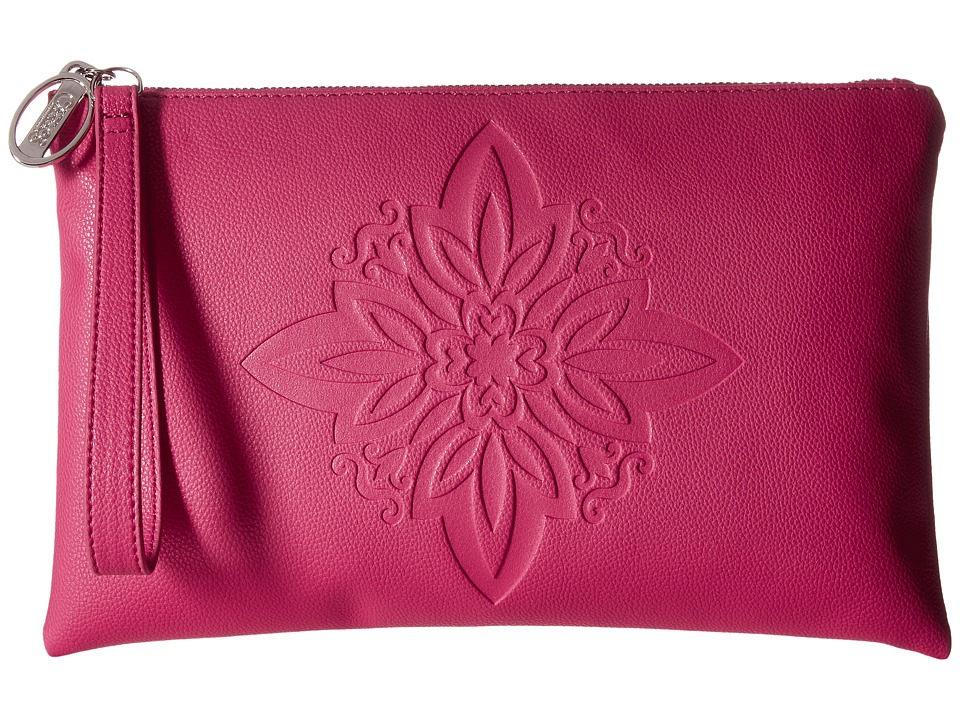 CARLOS by Carlos Santana - Greta Large Clutch (Fuchsia) Clutch Handbags