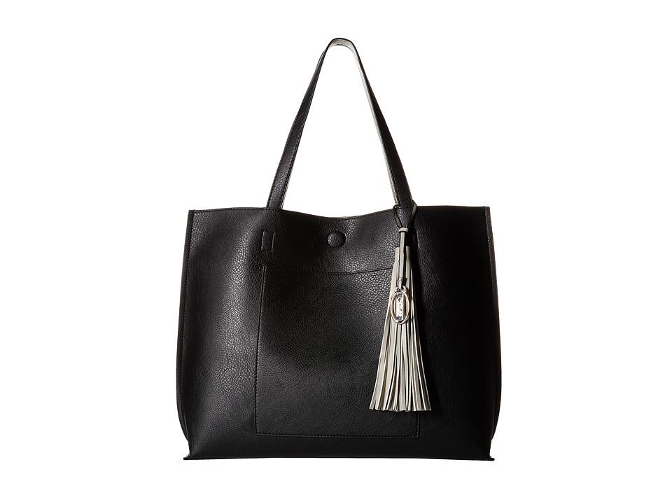 CARLOS by Carlos Santana - Leslie Pocket Tote (Black/Grey) Tote Handbags