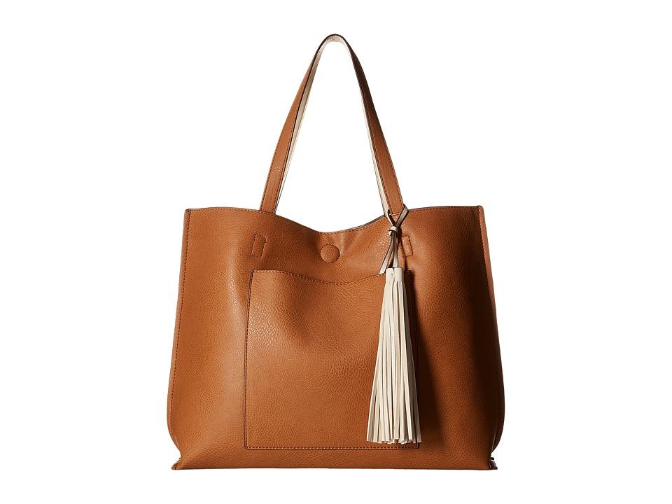 CARLOS by Carlos Santana - Leslie Pocket Tote (Cognacy/Bone) Tote Handbags