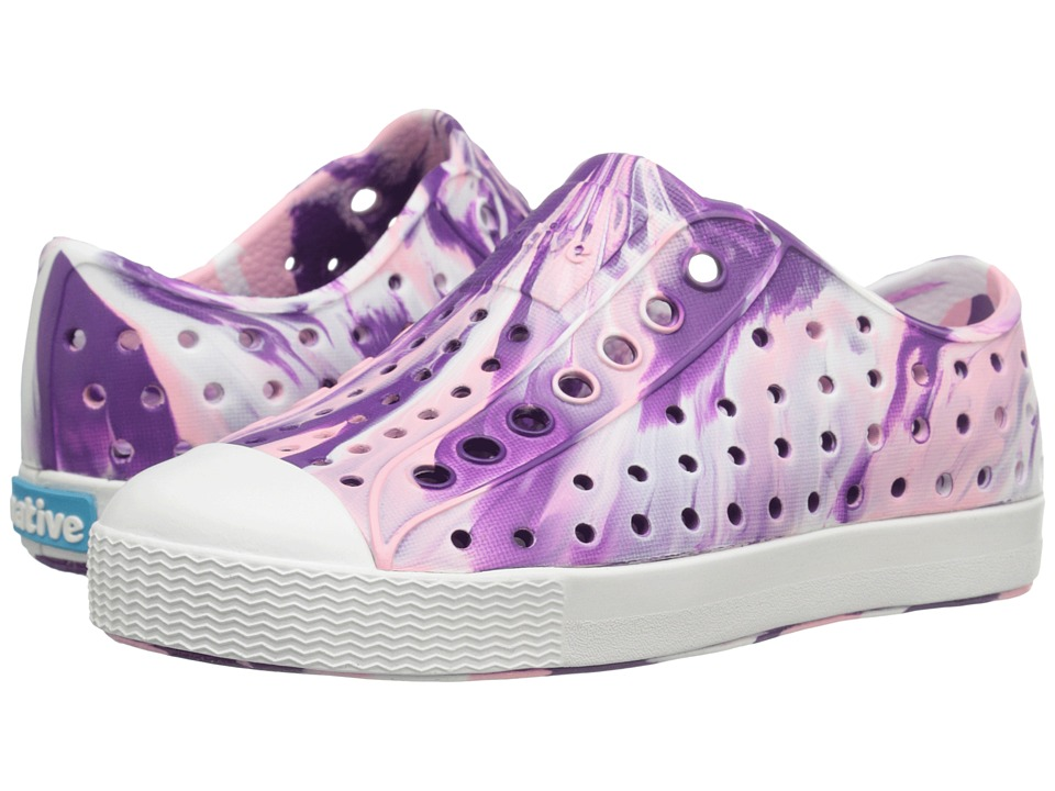 Native Kids Shoes - Jefferson Marbled (Toddler/Little Kid) (Orchid Purple/Shell White/Marbled) Girls Shoes