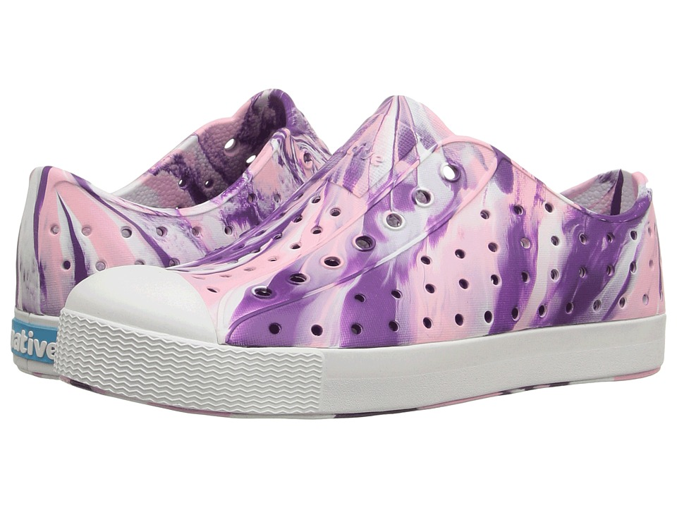 Native Kids Shoes - Jefferson Marbled (Little Kid) (Orchid Purple/Shell White/Marbled) Girls Shoes