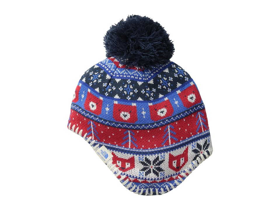 The North Face Kids - Faroe Beanie (Infant) (Cosmic Blue/TNF Red) Beanies