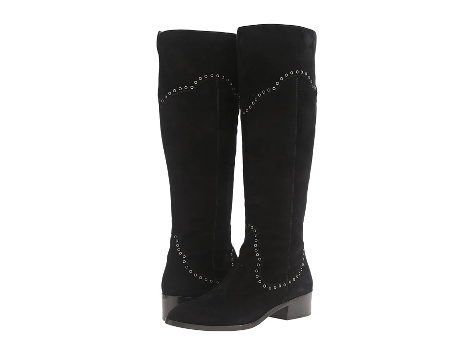 Frye - Ray Grommet Tall (Black Suede) Women's Boots