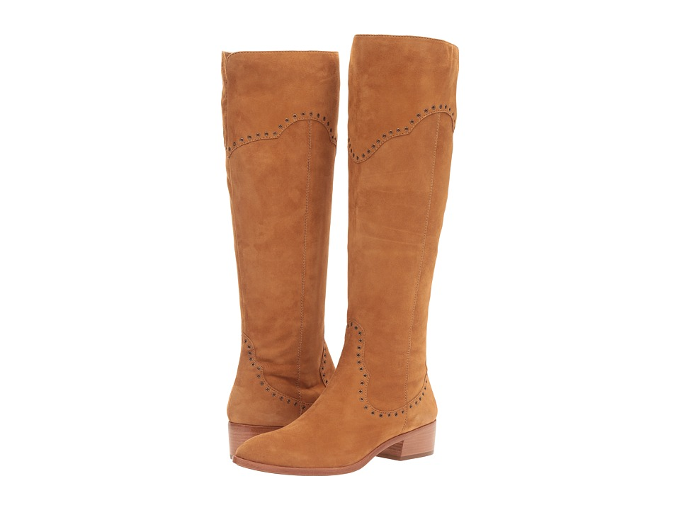 Frye - Ray Grommet Tall (Camel Suede) Women's Boots