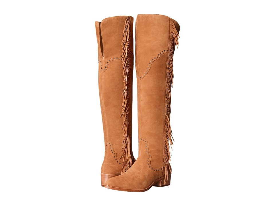 Frye - Ray Fringe Over-The-Knee (Camel Suede) Women's Boots