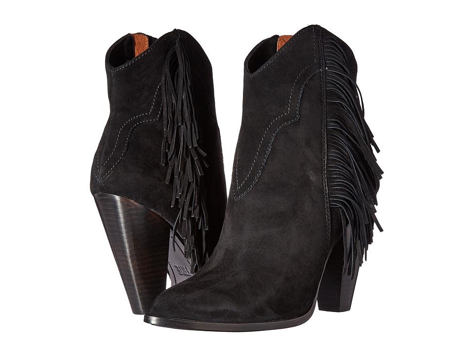 Frye - Remy Fringe Short (Black Suede) Women's Boots