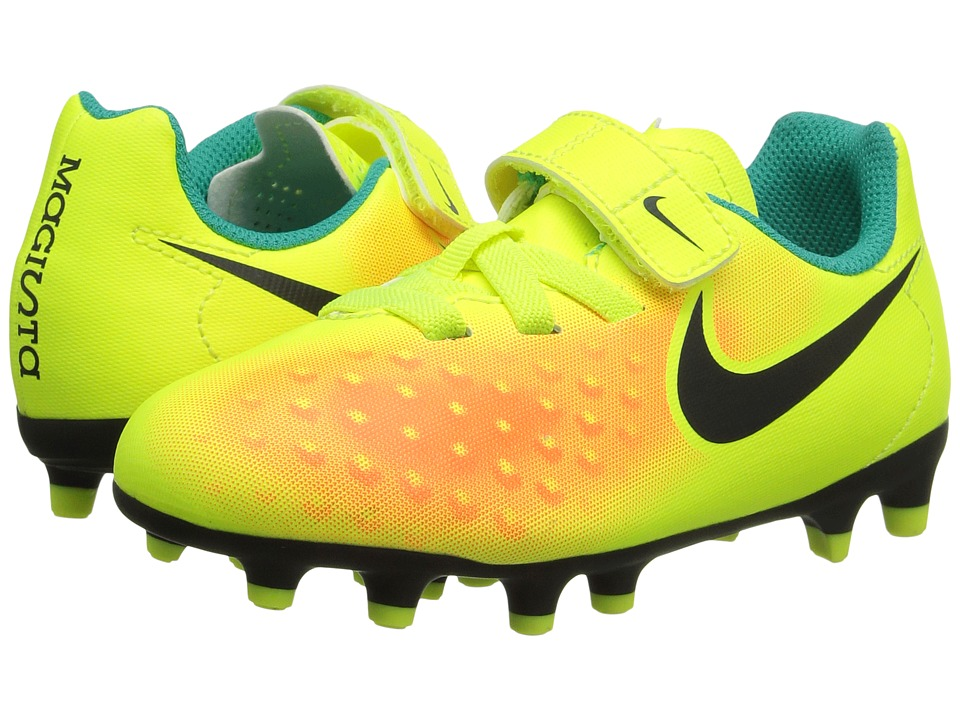 Nike Kids - Jr Magista Ola II FG (Toddler/Little Kid) (Volt/Total Orange/Clear Jade/Black) Kids Shoes