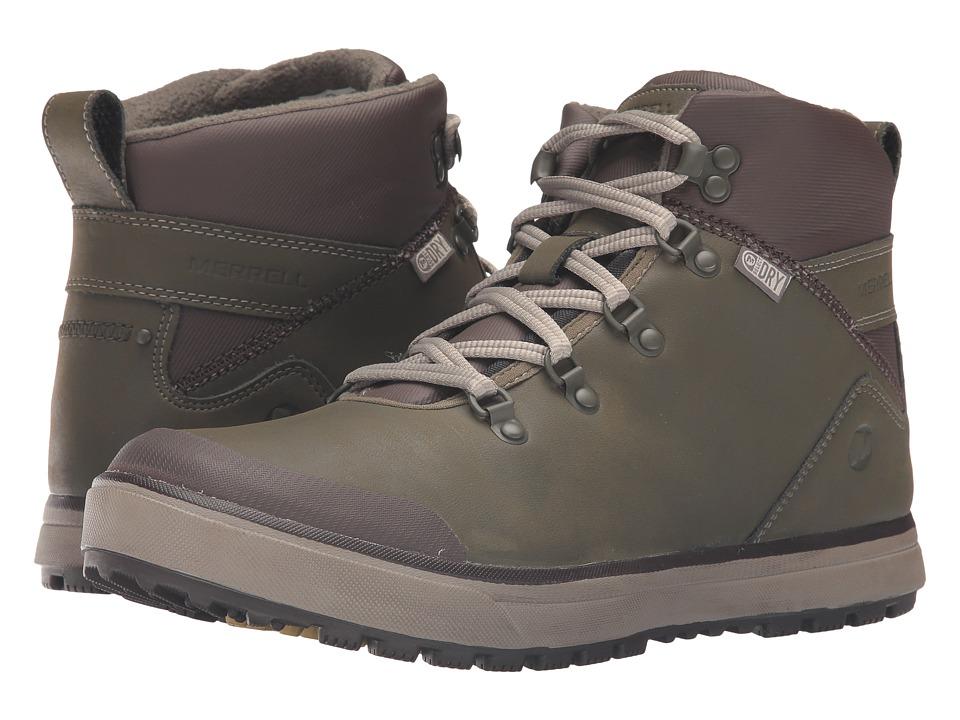 Merrell - Turku Trek Waterproof (Dusty Olive) Men's Lace up casual Shoes