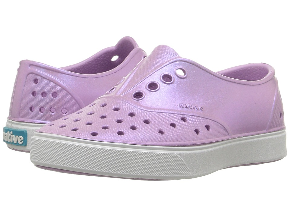 Native Kids Shoes - Miller Iridescent (Toddler/Little Kid) (Sage Purple/Shell White/Galaxy) Girl's Shoes
