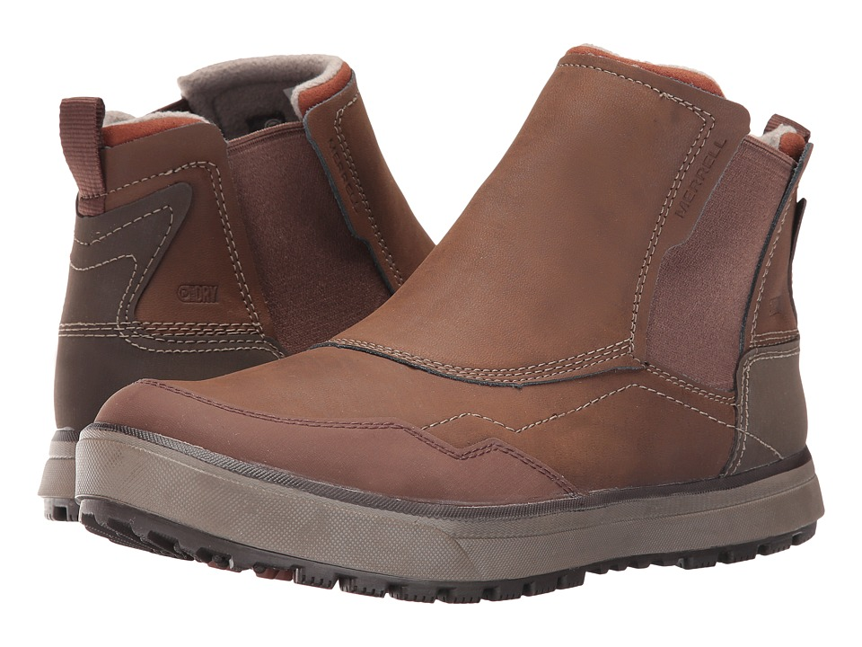 Merrell - Turku Chelsea Waterproof (Potting Soil) Men's Slip on Shoes