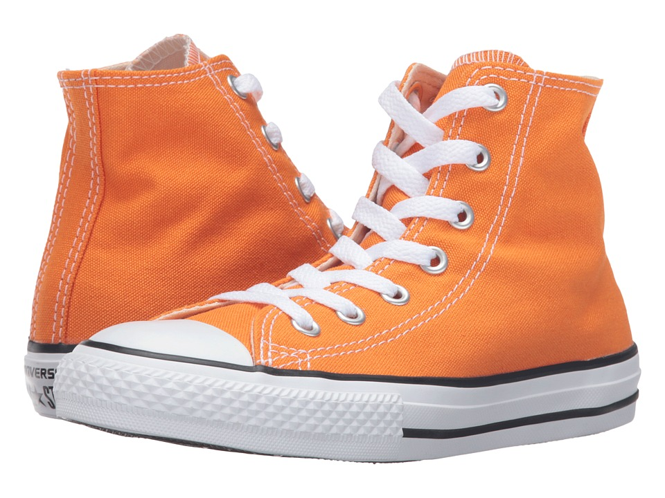 Converse Kids - Chuck Taylor All Star Seasonal Hi (Little Kid) (Vivid Orange) Kids Shoes