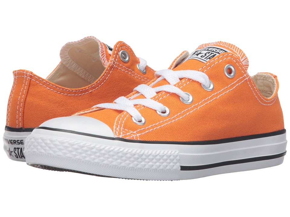 Converse Kids - Chuck Taylor All Star Seasonal Ox (Little Kid) (Vivid Orange) Kids Shoes