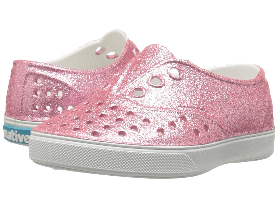 Native Kids Shoes - Miller Bling (Toddler/Little Kid) (Pink Bling/Shell White) Girl's Shoes