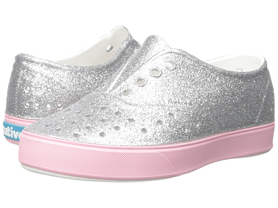 Native Kids Shoes - Miller Bling (Little Kid) (Silver Bling/Princess Pink) Girl's Shoes