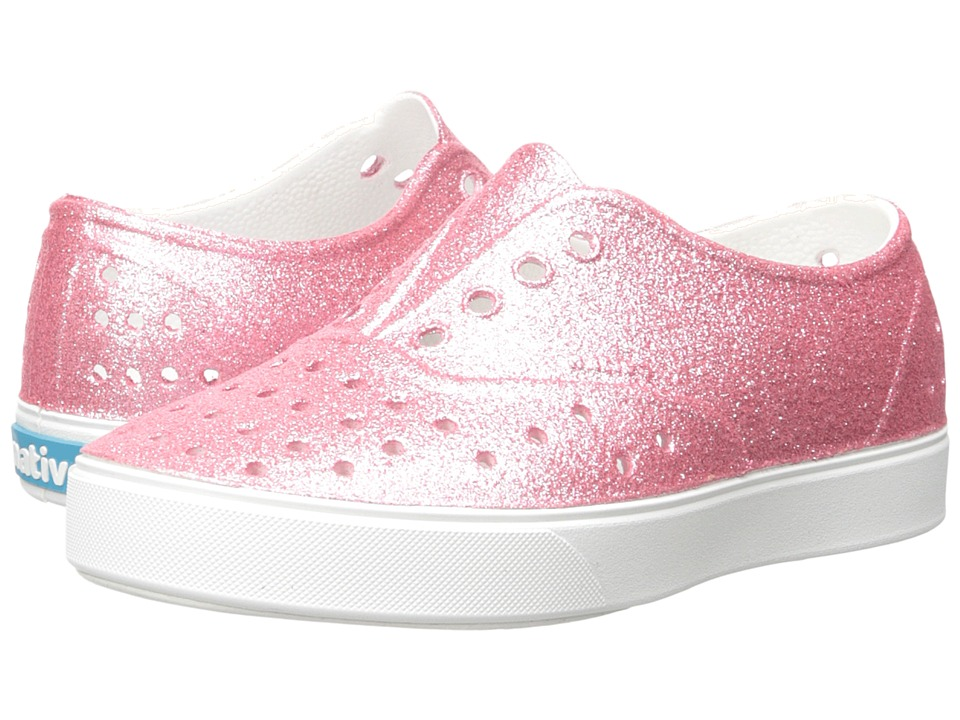 Native Kids Shoes - Miller Bling (Little Kid) (Pink Bling/Shell White) Girl's Shoes