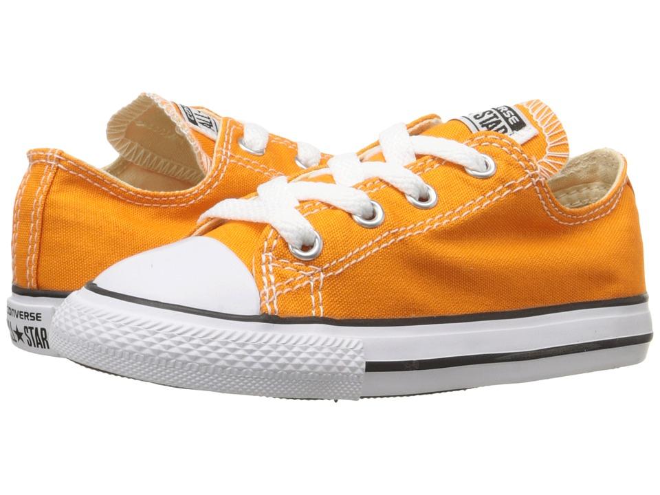 Converse Kids - Chuck Taylor All Star Seasonal Ox (Infant/Toddler) (Vivid Orange) Kid's Shoes