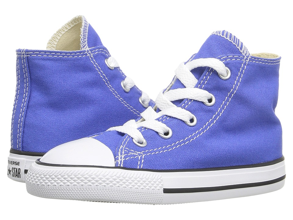 Converse Kids - Chuck Taylor All Star Seasonal Hi (Infant/Toddler) (Oxygen Blue) Kids Shoes