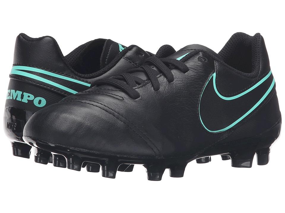 Nike Kids - Jr Tiempo Legend VI FG Soccer (Toddler/Little Kid/Big Kid) (Black/Black) Kids Shoes