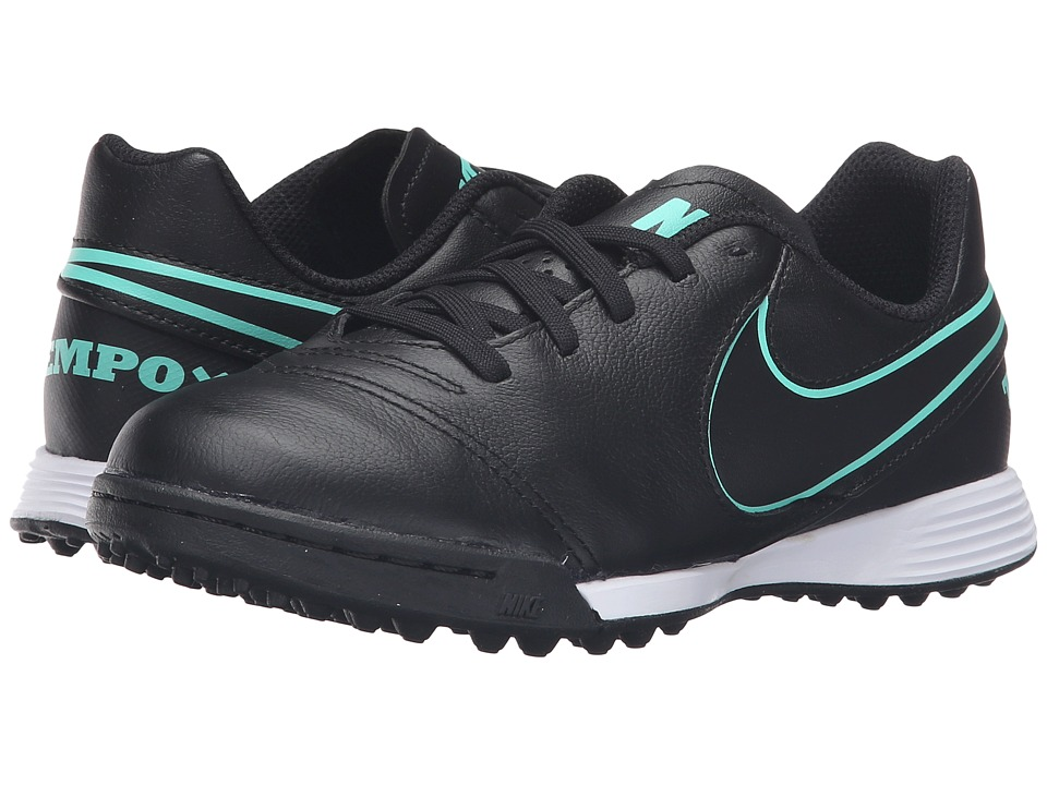 Nike Kids - Jr Tiempo Legend VI TF Soccer (Toddler/Little Kid/Big Kid) (Black/Black) Kids Shoes