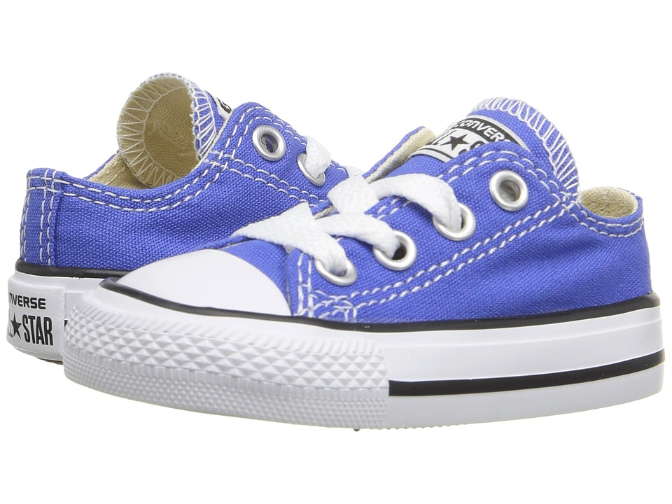Converse Kids - Chuck Taylor All Star Seasonal Ox (Infant/Toddler) (Oxygen Blue) Kid's Shoes