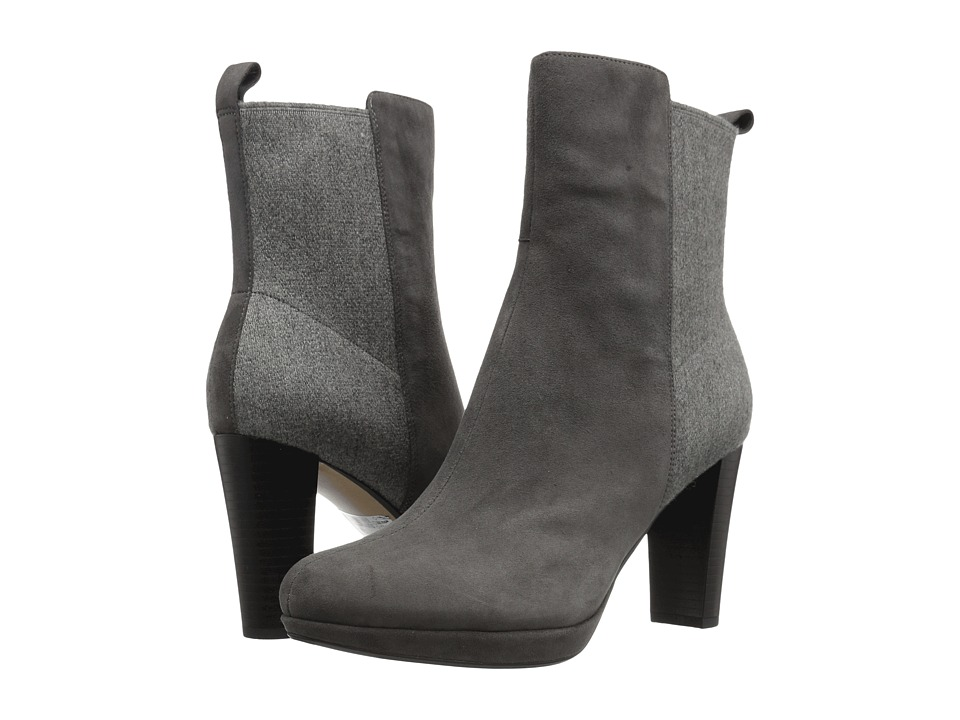Clarks - Kendra Porter (Dark Grey Suede) Women's Pull-on Boots
