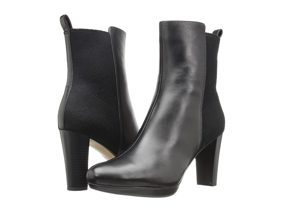 Clarks - Kendra Porter (Black Leather) Women's Pull-on Boots