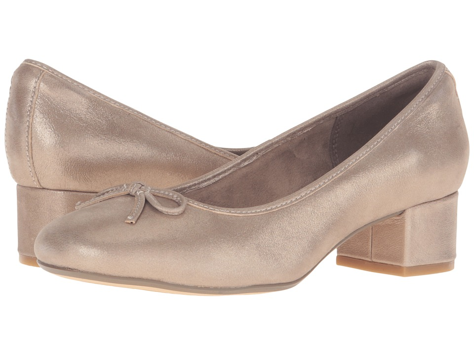 Clarks - Cala Lucky (Metallic Leather) Women's Shoes