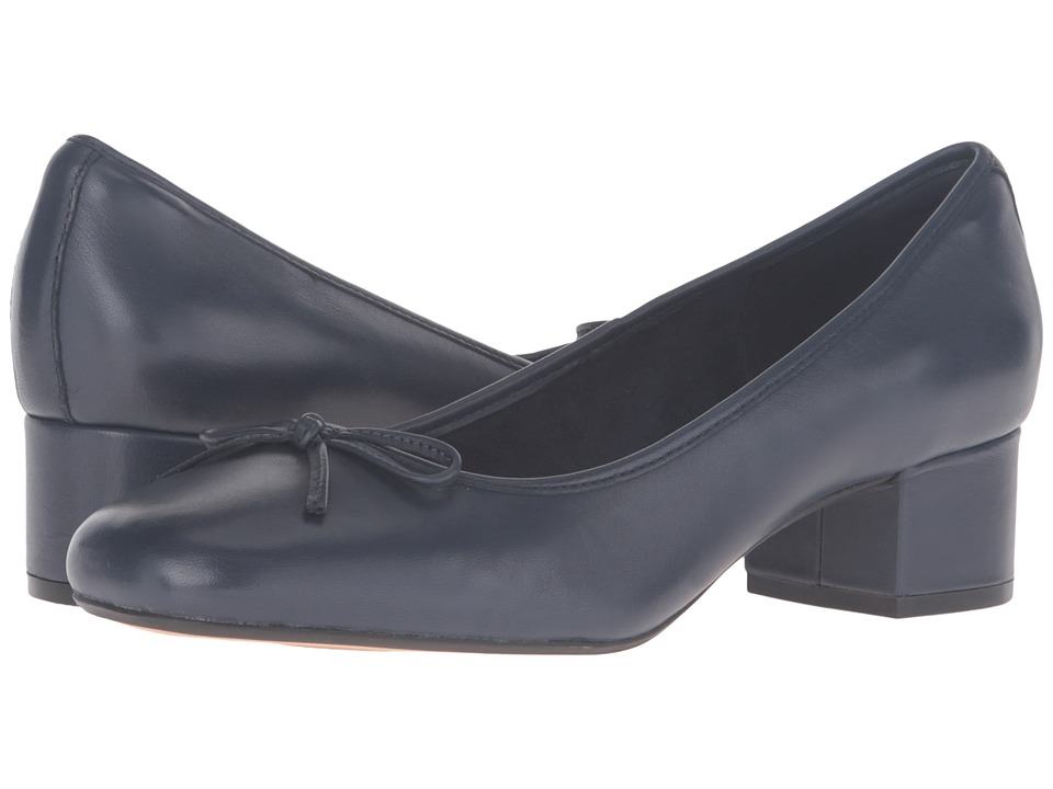 Clarks - Cala Lucky (Navy Leather) Women's Shoes