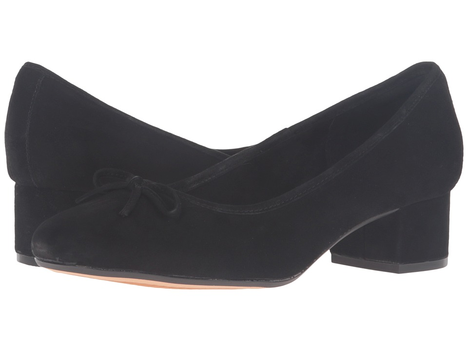Clarks - Cala Lucky (Black Suede) Women's Shoes