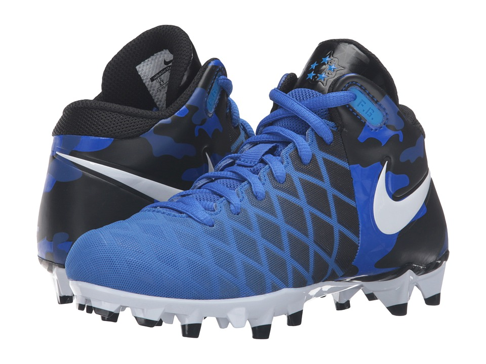 Nike Kids - Field General Pro TD BG Football (Little Kid/Big Kid) (Racer Blue/Black/Photo Blue/White) Boys Shoes