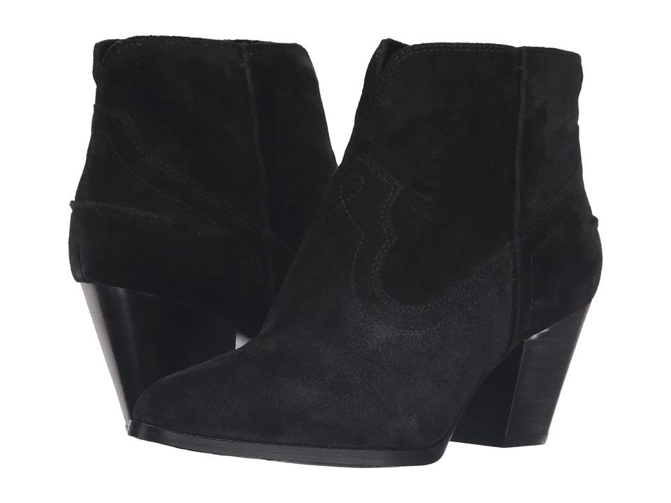 Frye - Renee Seam Short (Black Oiled Suede) Cowboy Boots
