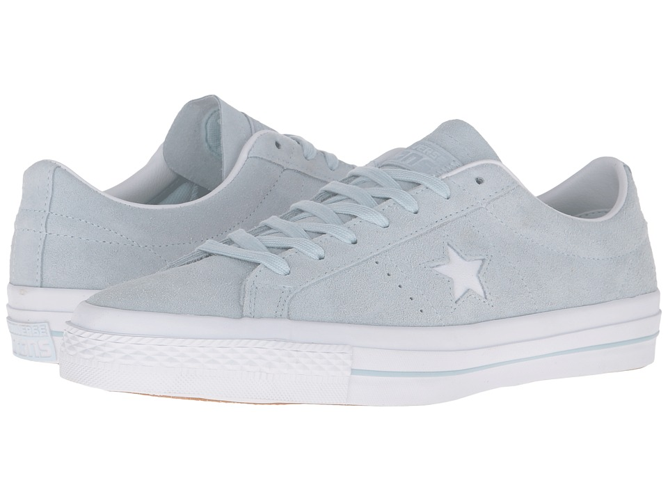 Converse - One Star Premium Suede Ox (Polar Blue/White/White) Lace up casual Shoes