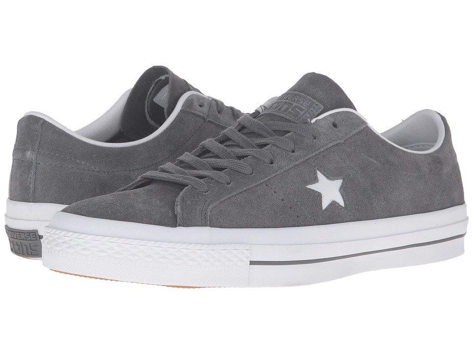 Converse - One Star Premium Suede Ox (Thunder/White/White) Lace up casual Shoes