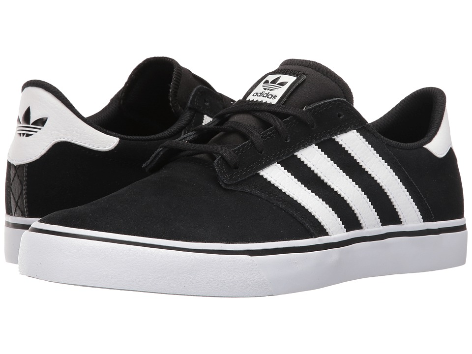 adidas Skateboarding - Seeley Premiere (Black/White/White) Men's Skate Shoes