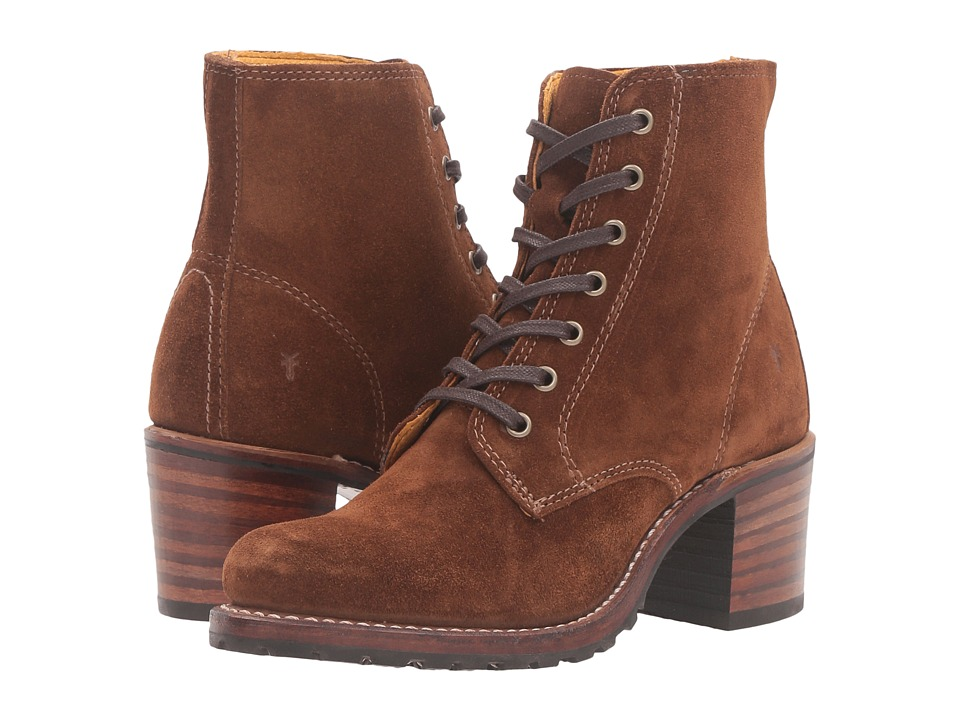 Frye Sabrina 6G Lace Up (Wood Oiled Suede) Women