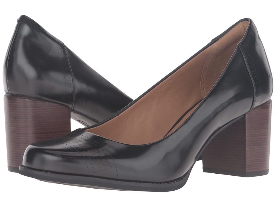 Clarks - Tarah Sofia (Black Brushed Leather) High Heels