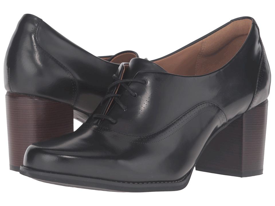Clarks - Tarah Victoria (Black Leather) Women's Shoes