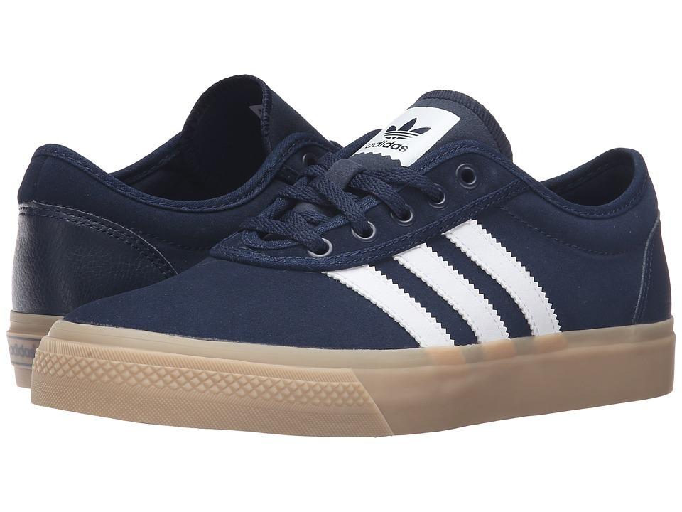 adidas Skateboarding - Adi-Ease (Collegiate Navy/White/Gum4) Men's Skate Shoes